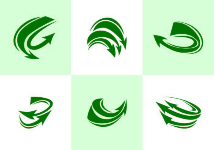Green Flechas Vector