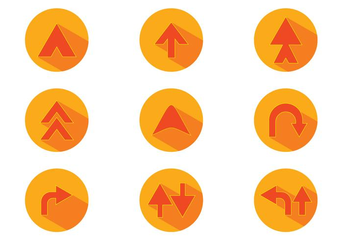 Orange Flechas Vector