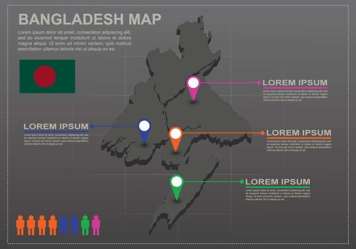 Free Bangladesh Map Infography
