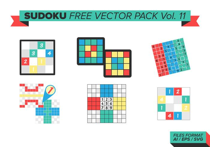 Sudoku pack vectoriel gratuit vol. 11