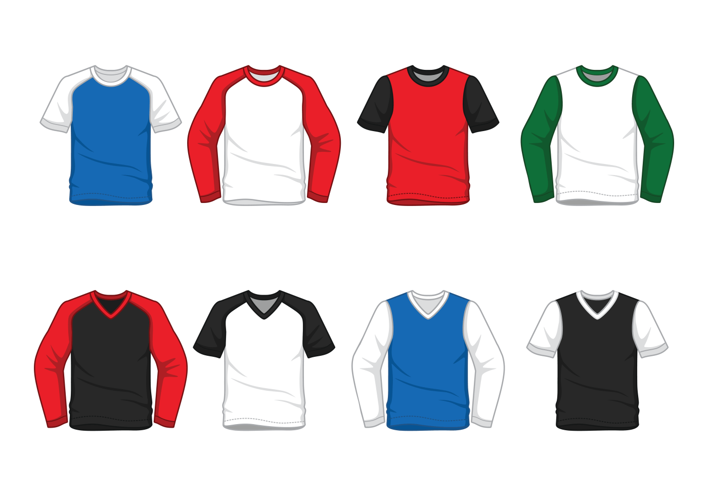 mens raglan tshirt vector download free vector art