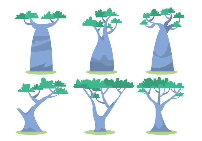 Ensemble de vecteur arbre africain