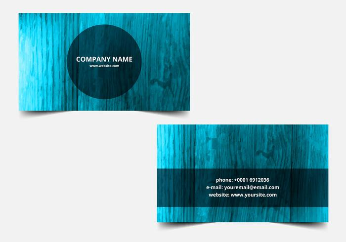 Free Vector Blue Textured Business card