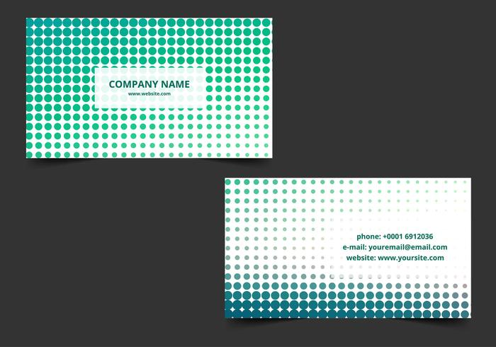 Free Vector Halftone Business card