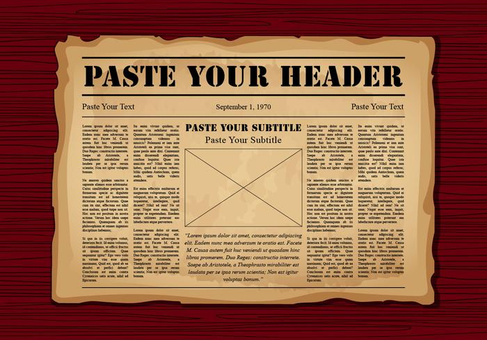 Old Newspaper Free Vector Art 5888 Free Downloads