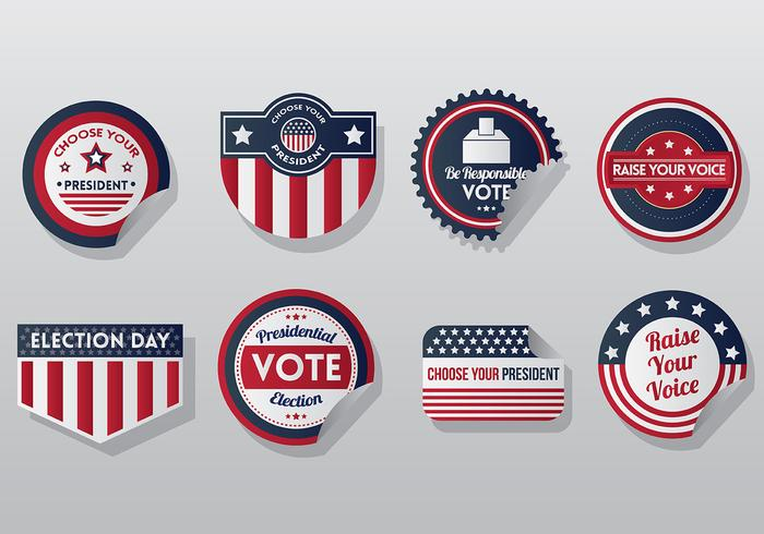 Vector de ícones do selo presidencial gratuito