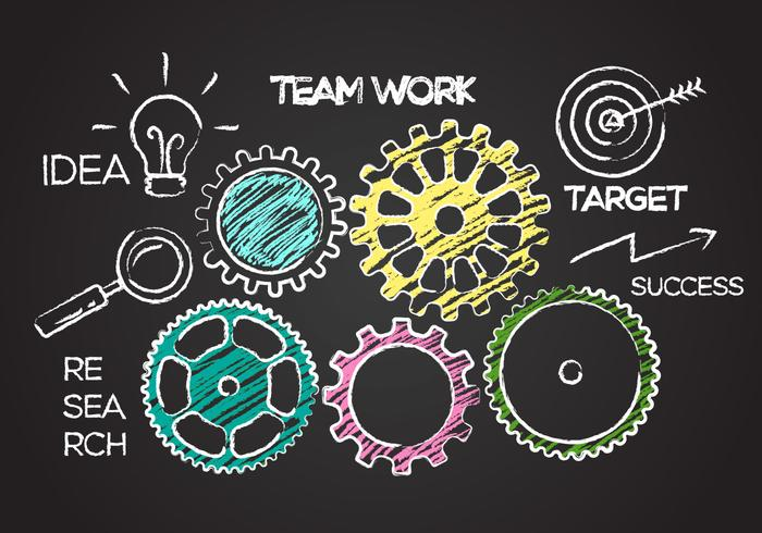 Team Work Concept Illustration Vector