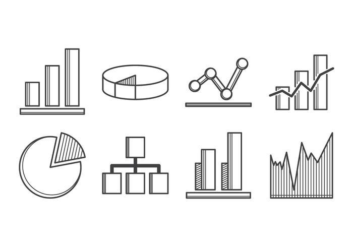 Vetor de ícone de diagrama livre