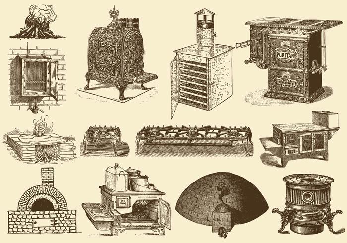 Estufas y hornos de la vendimia