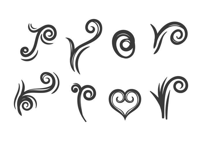 Tribal korutattoo vektor uppsättning