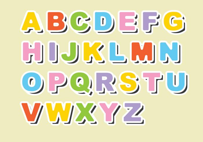 Fridge Magnet Alphabet Vector