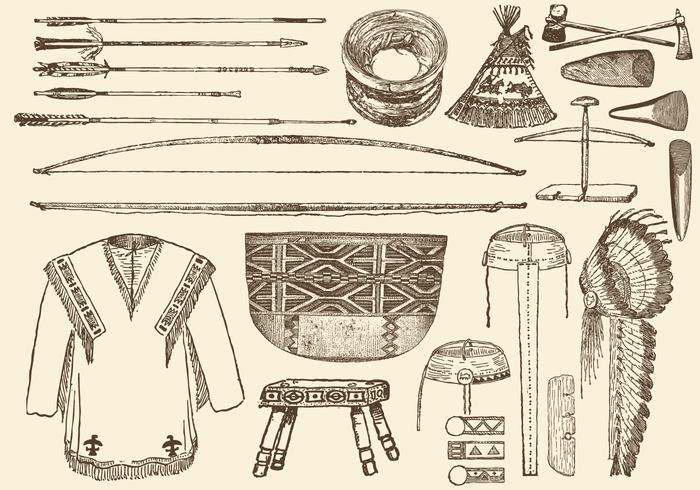 American Native Stuff vector