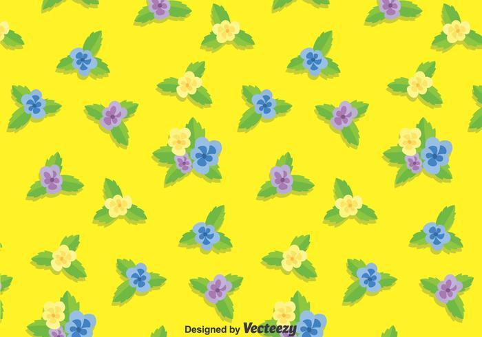 Pansy Flower Pattern Background