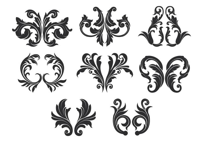 Acanthus Vector Icons