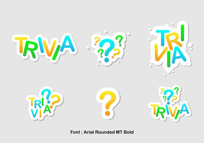 Trivia Icon Vector Set