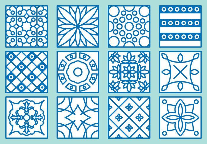 Azulejo Icons vector