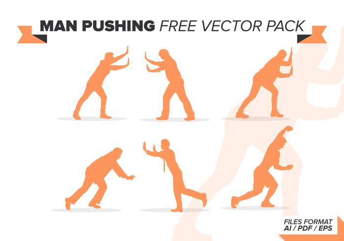Man Duwen Gratis Vector Pakket