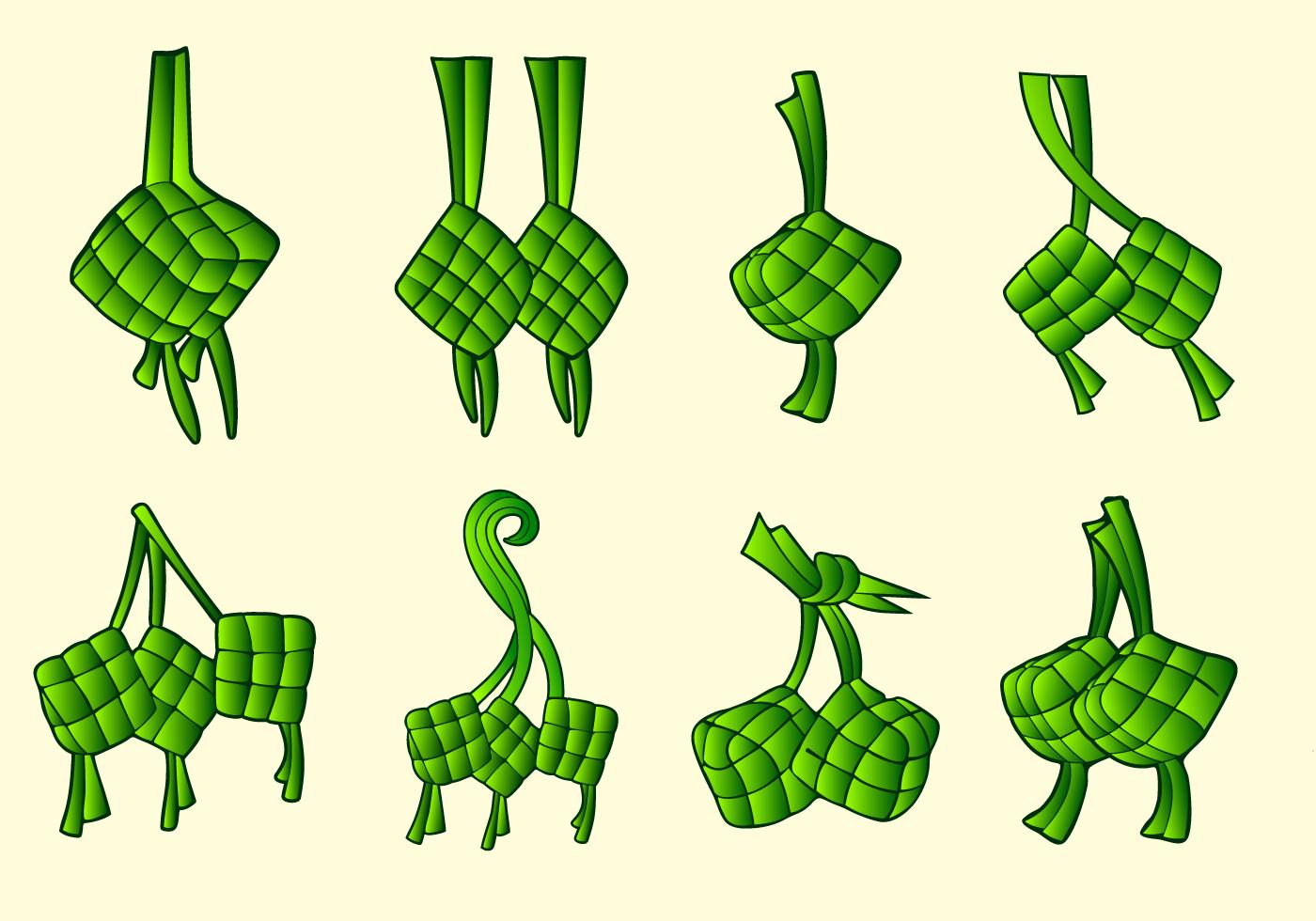Ketupat traditional food vector pack - Download Free ...