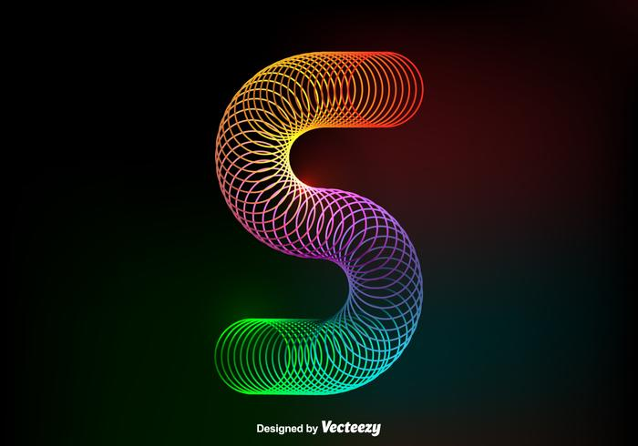 Free Vector Colorful Slinky