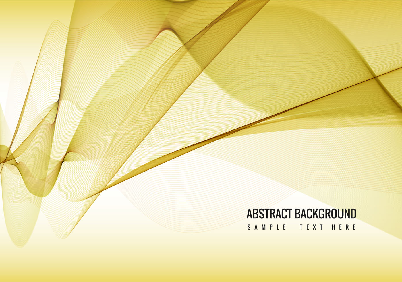 Yellow Vector Wavy Background