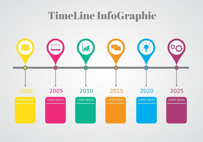 colorful timeline infographic vector download free vector art