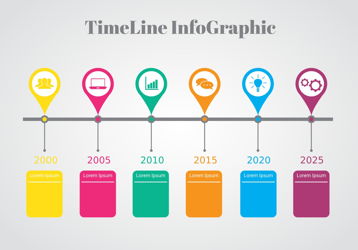 Colorful Timeline Infographic Vector - Download Free ...