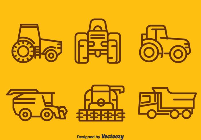 Harvest Tractors Collection Vector