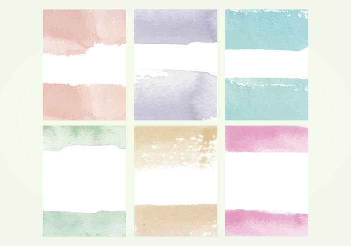 Vector Watercolor Elements