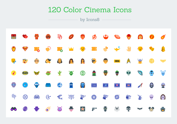 Movie Icon Vectors by Icons8