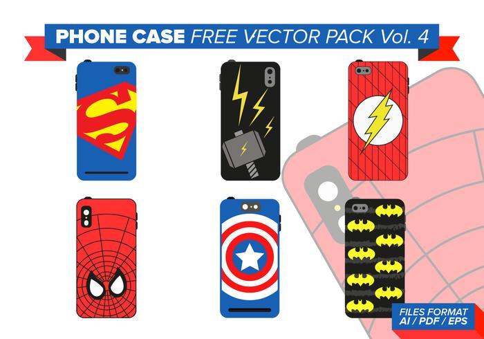 Caso do telefone herói pacote vetor livre vol. 4