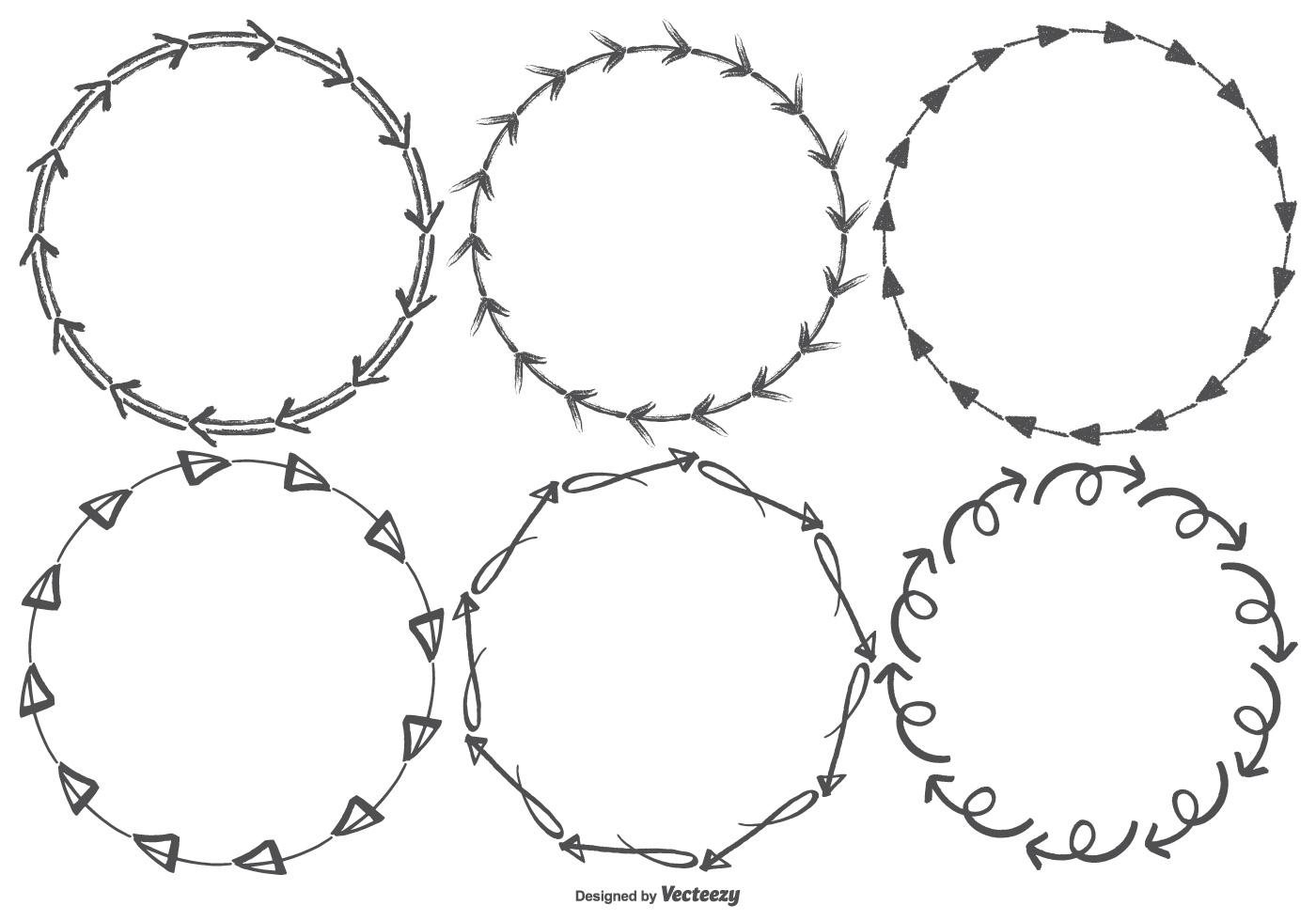 Sketchy Arrow Vector Frames - Download Free Vectors ...