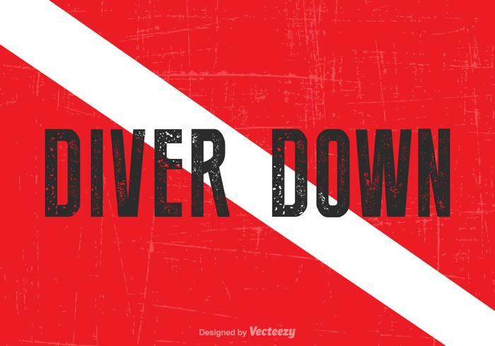 Livre vector diver down flag