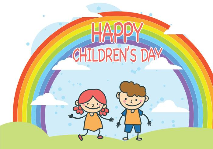 Cute Children's Day Vector