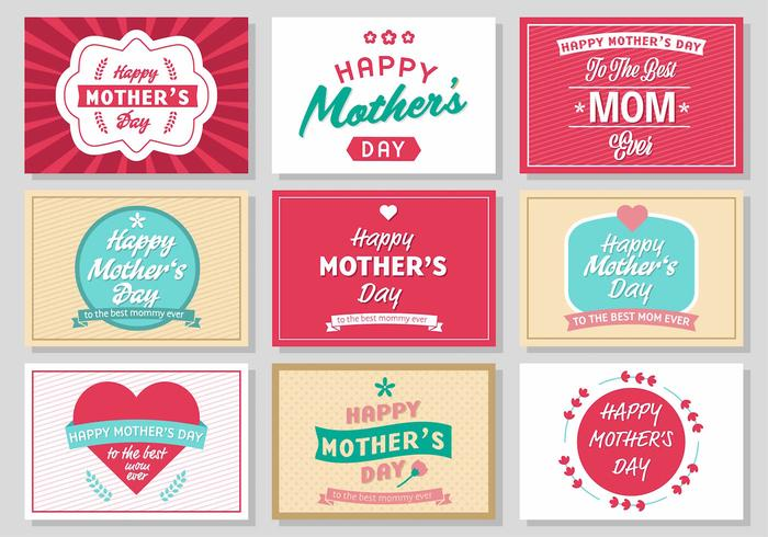 Free Mother's Day Vintage Poster Vector