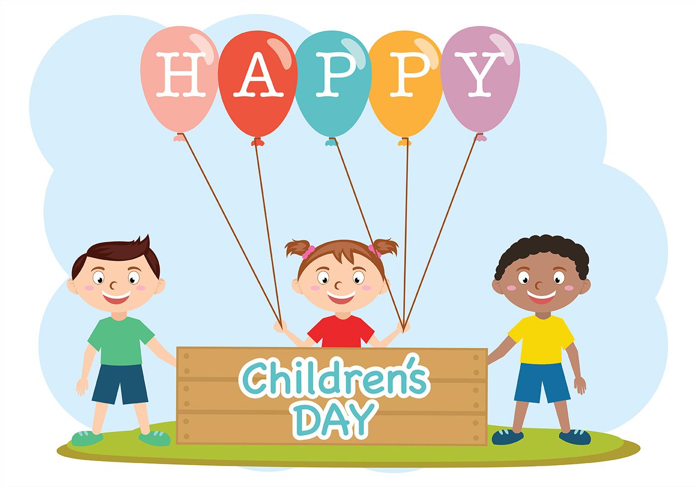 Happy children day vector download free vectors clipart graphics vector art - Children s day images download ...