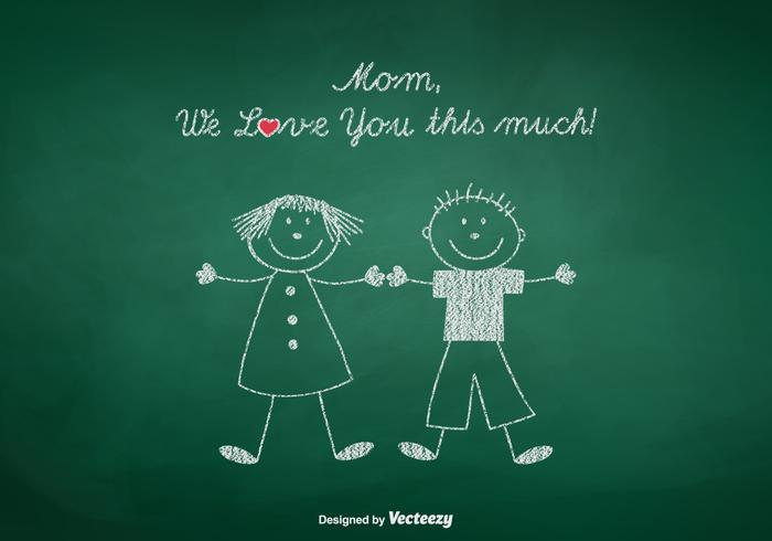 Free Mom We Love You Vector Illustration