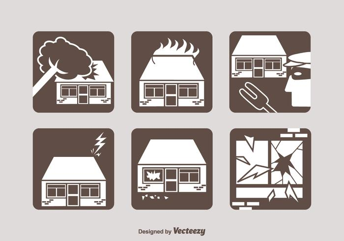 Free Property Insurance Vector Icons