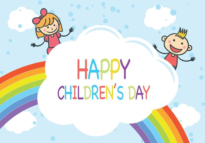Rainbow Children's Day Vector