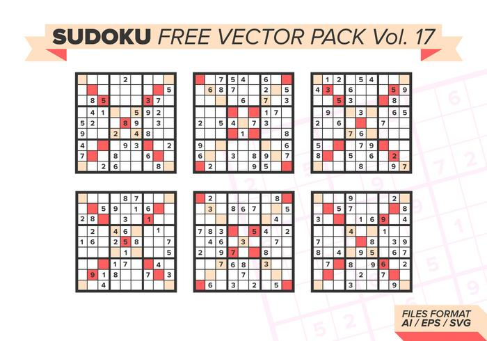 Sudoku Free Vector Pack Vol. 17