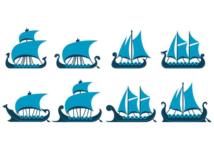 Vector Of Viking Ship