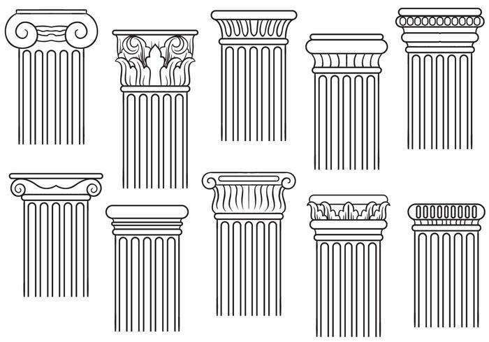 Vettori di pilastri gratuiti