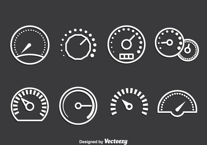 Meter Icons Vector Set