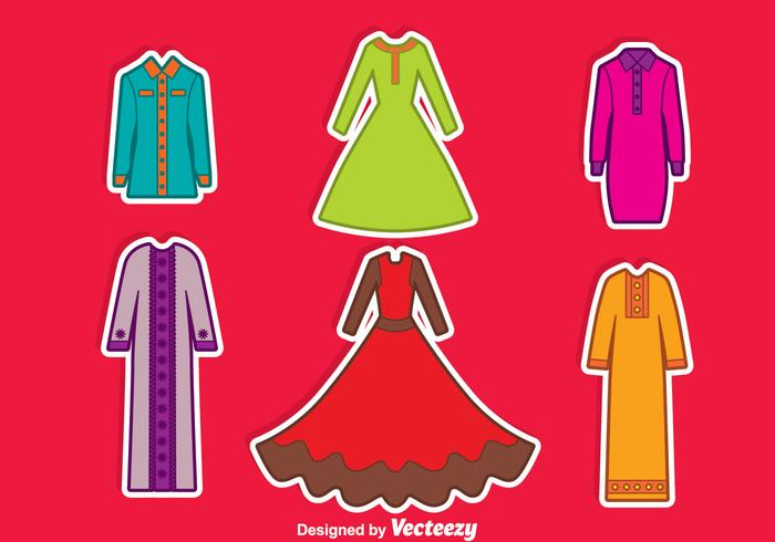 Arabian Abaya Collection Vector