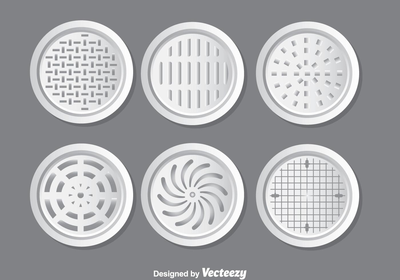 Metal Manhole Covers Vector Set Download Free Vector Art