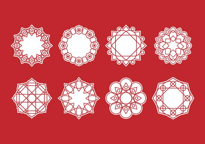 Free Set of Mandala Decorative Vector