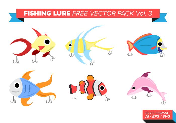 Fishing Lure Free Vector Pack Vol. 3