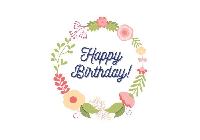 Ilustração do cartão de aniversário