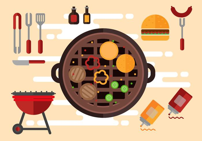 Free Tailgating Icons Illustration Vector