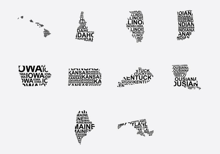 America Word Map Set 2