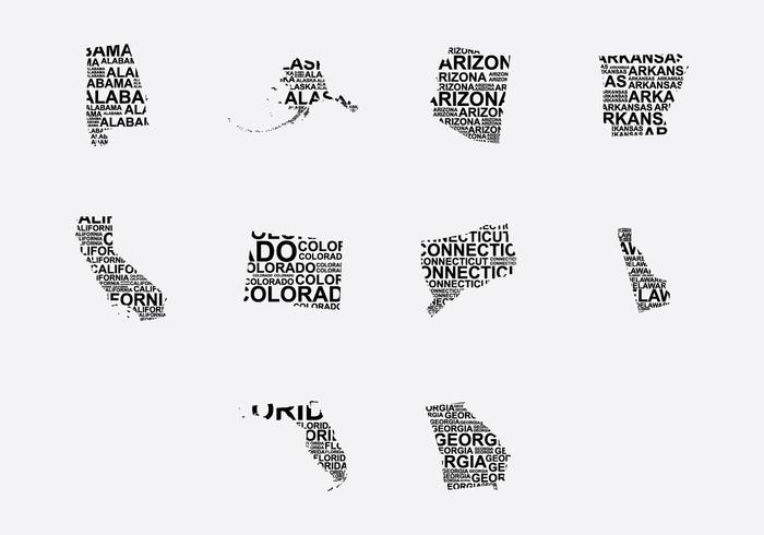 America Word Map Set 3